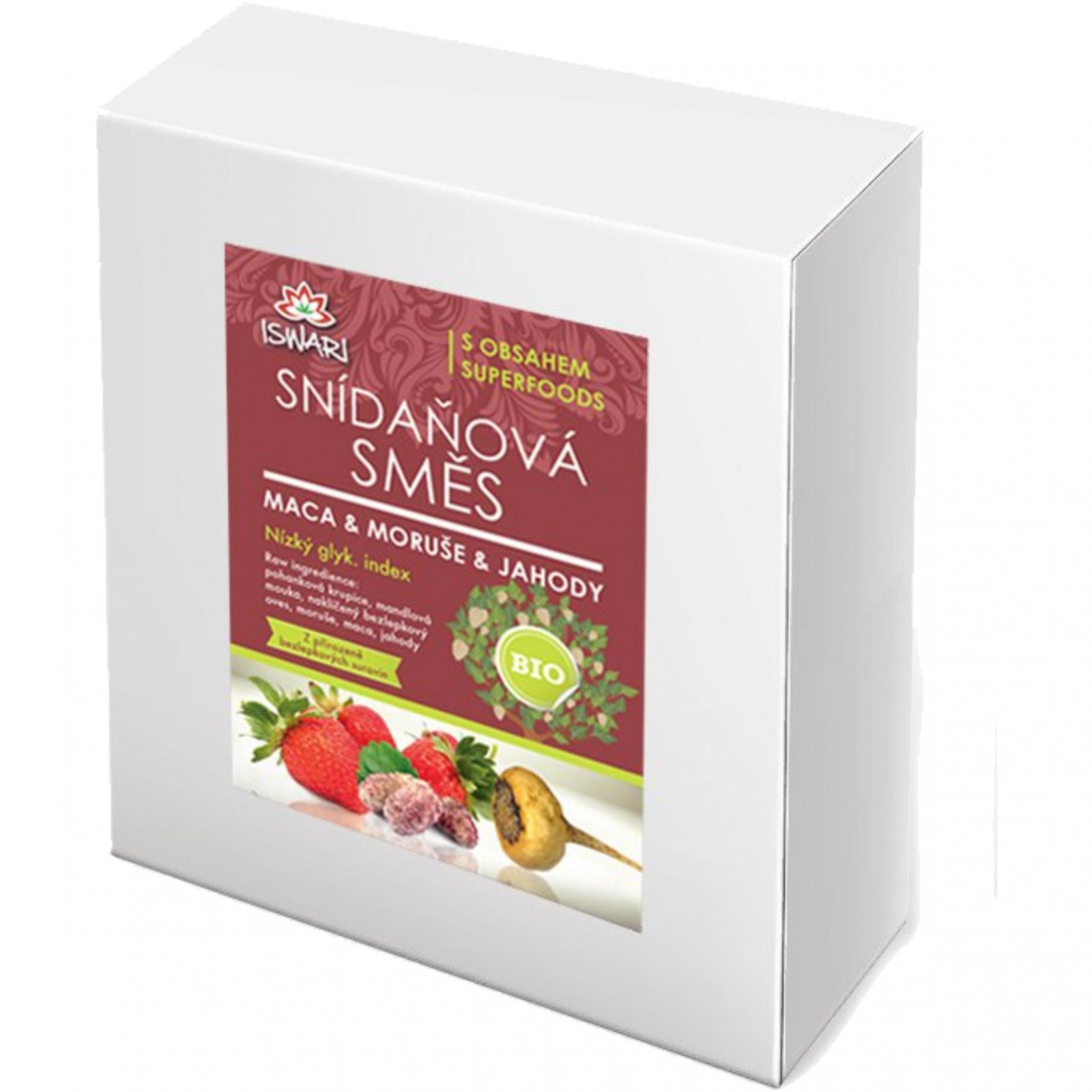 Iswari BIO Snídaňová směs 3200 g -  maca & moruše & jahody
