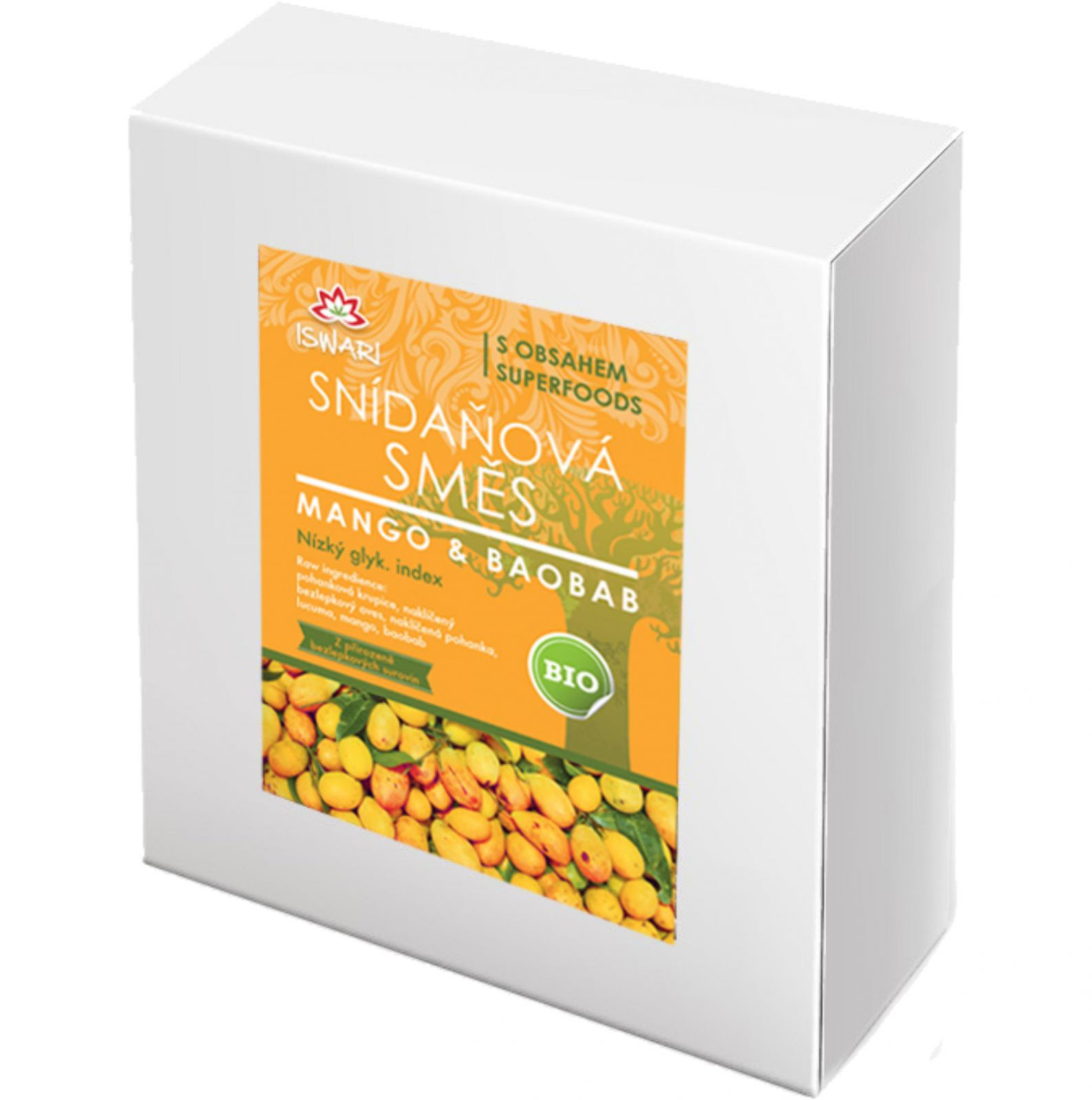 Iswari BIO Snídaňová směs 3600 g - mango & baobab