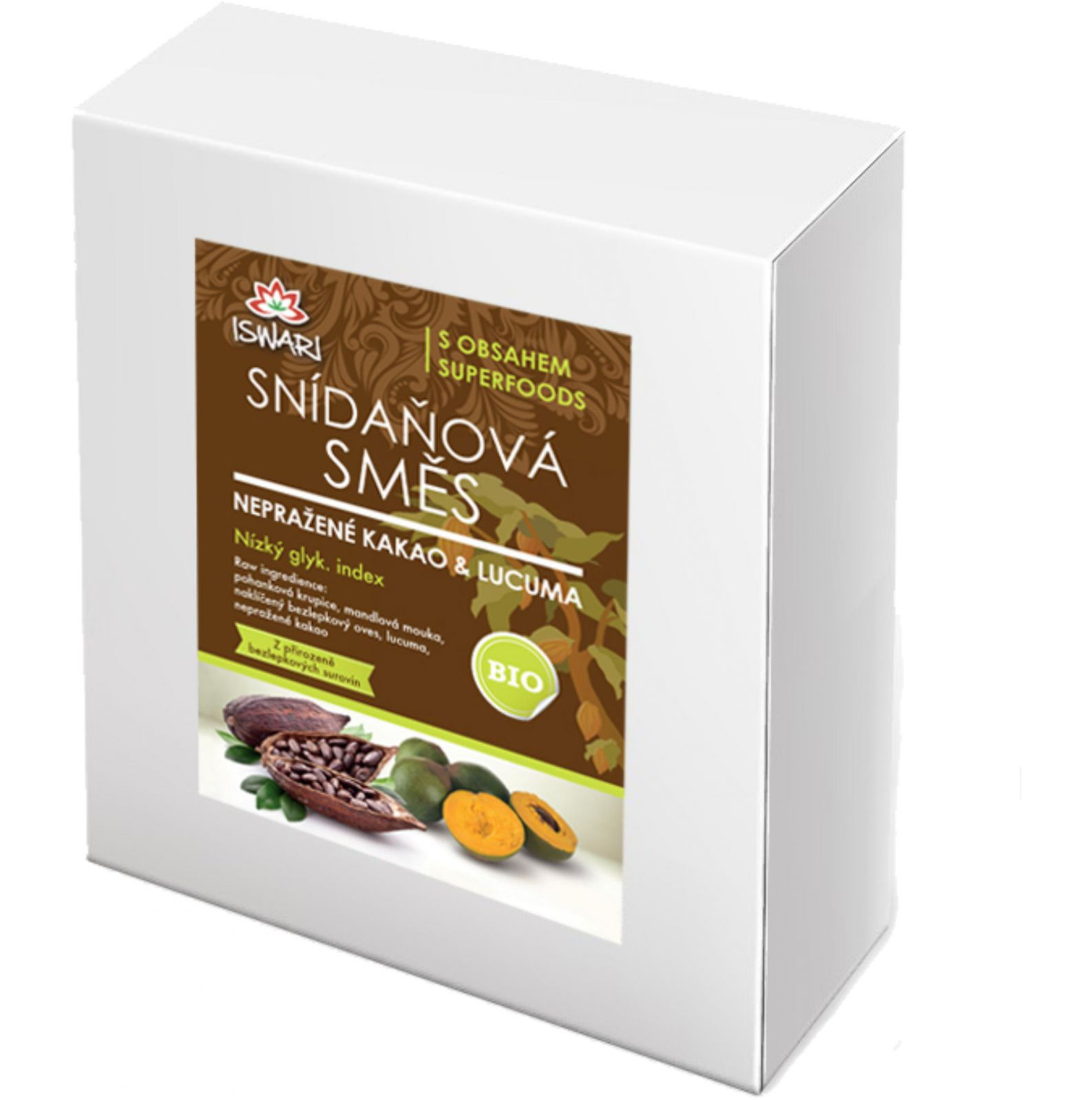 Iswari BIO Snídaňová směs 3200 g - nepražené kakao & lucuma