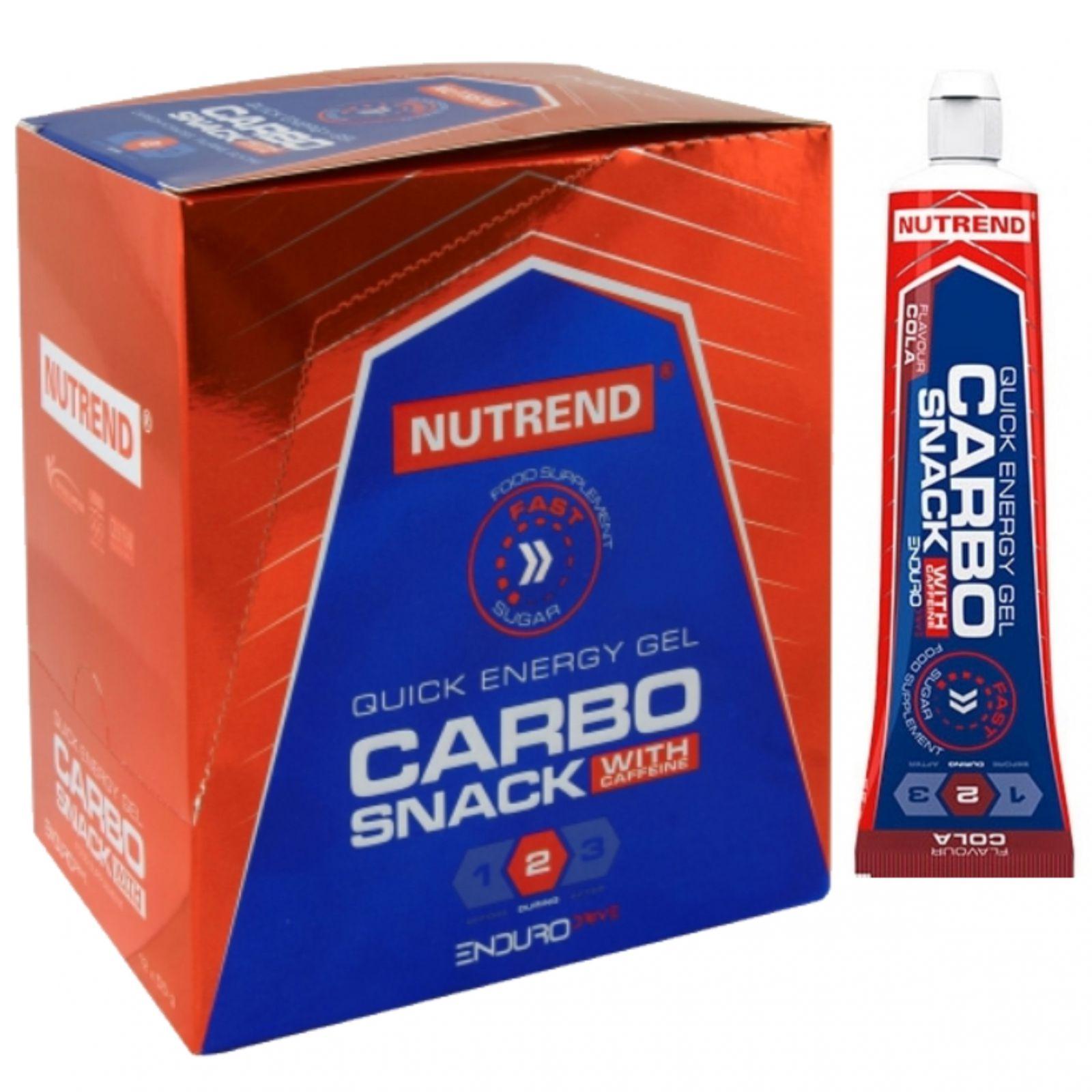 Nutrend Carbosnack with caffeine tuba 18 x 55 g - příchuť cola