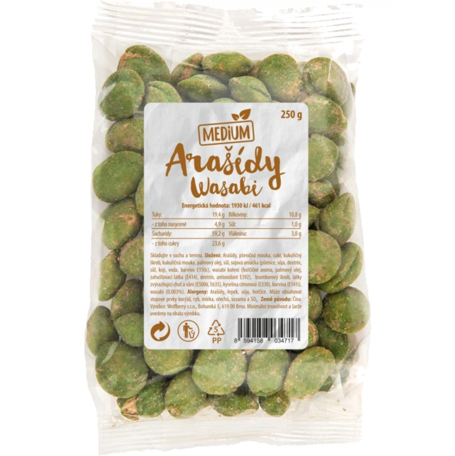 Wolfberry Arašídy Wasabi 250 g