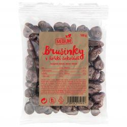 Wolfberry BIO Brusinky v hořké čokoládě MEDIUM 100 g