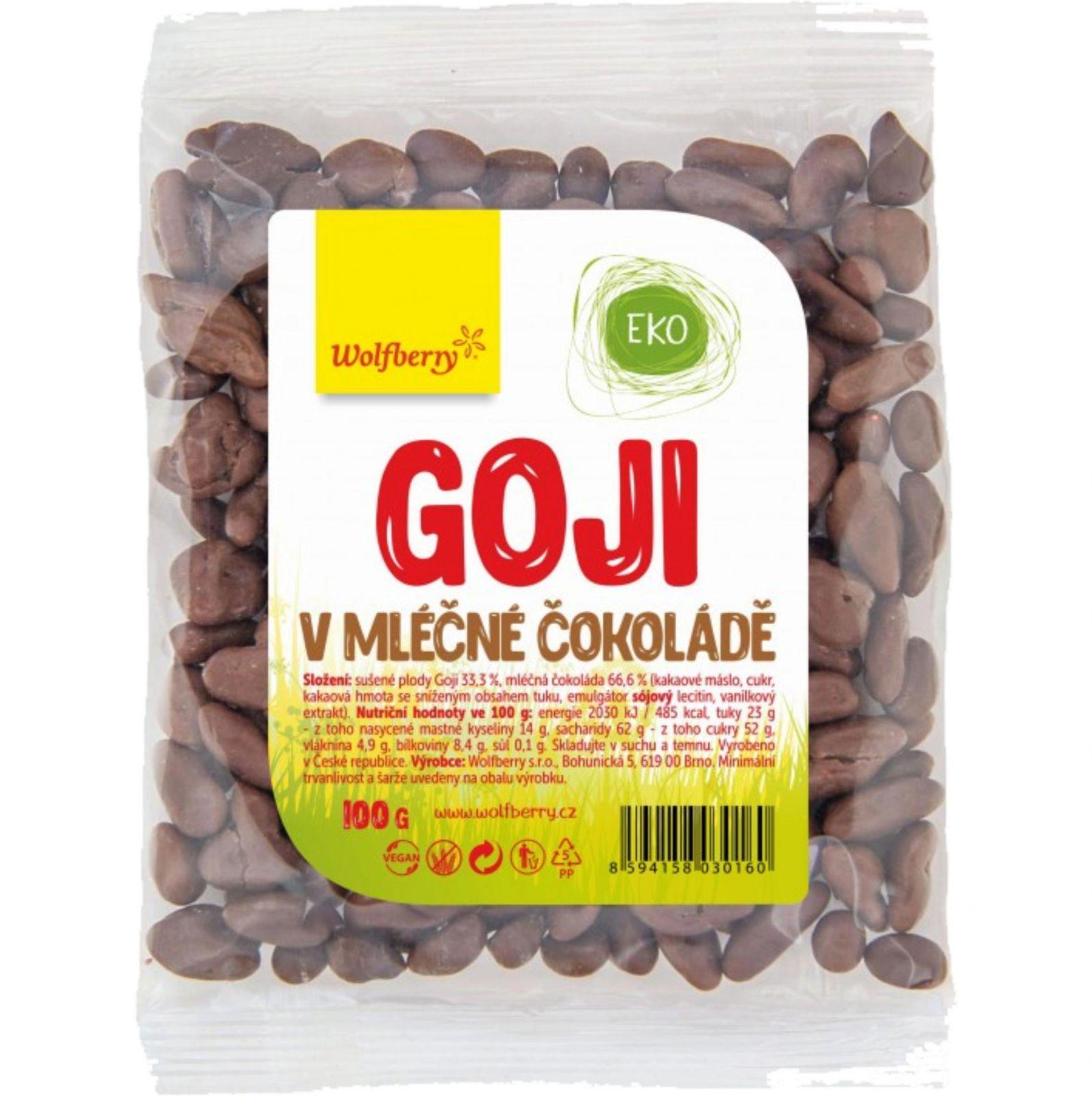 Wolfberry Goji - Kustovnice čínská v mléčné čokoládě 100 g