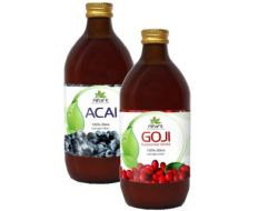 22.08.2018  - Mimořádná nabídka - Sonnenmacht GOJI a ACAI šťávy 500 ml nyní SLEVA až 49% - 218154 - Sonnenmacht GOJI a ACAI šťávy 500 ml nyní SLEVA až 49%