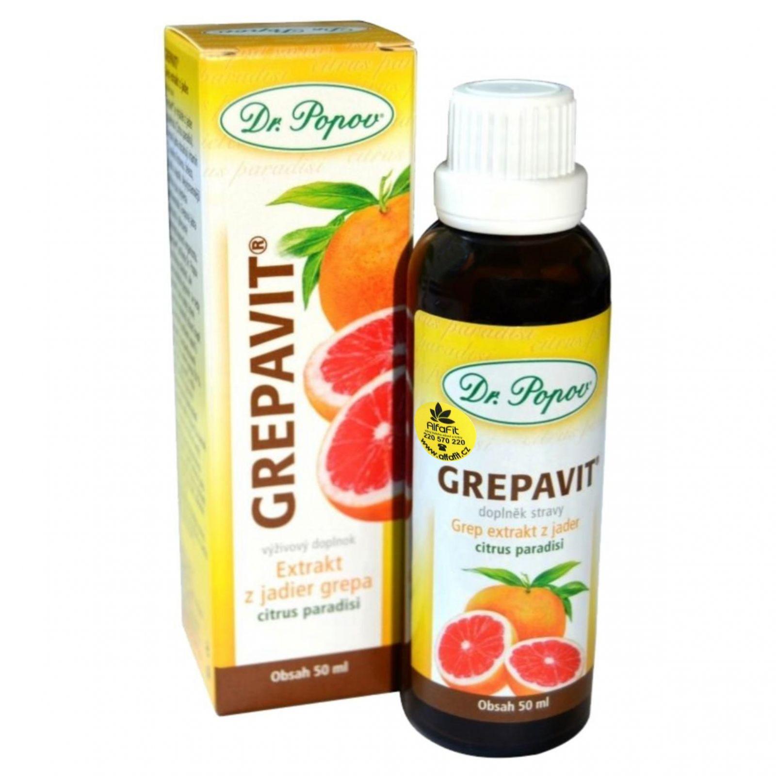 Dr. Popov Grapavit extrakt z grepu 100 ml