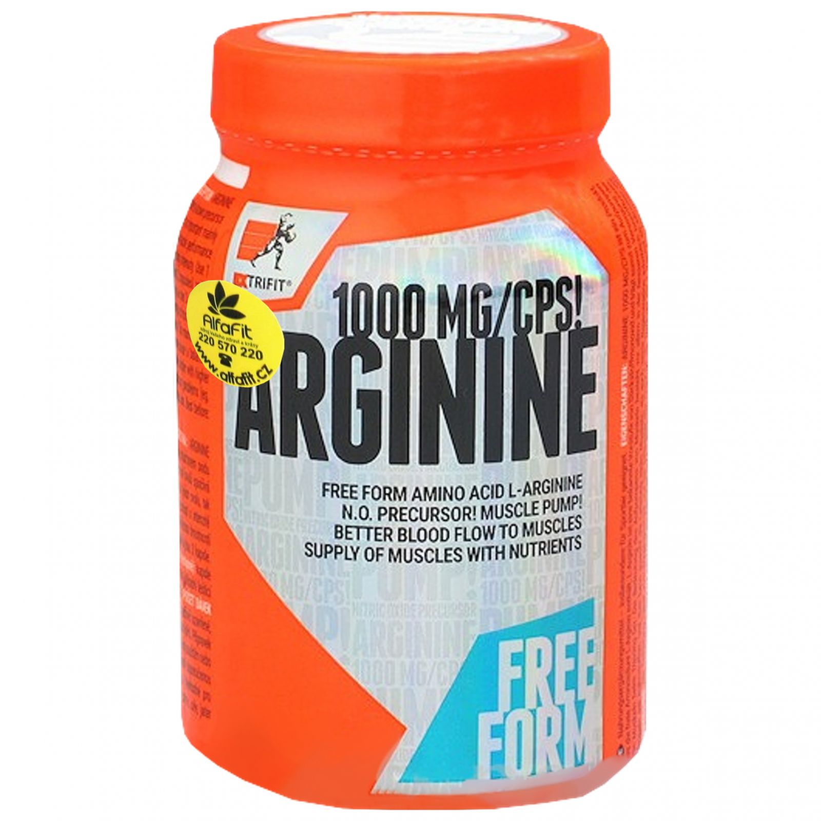 Extrifit Arginine 1000mg free form 90 kapslí