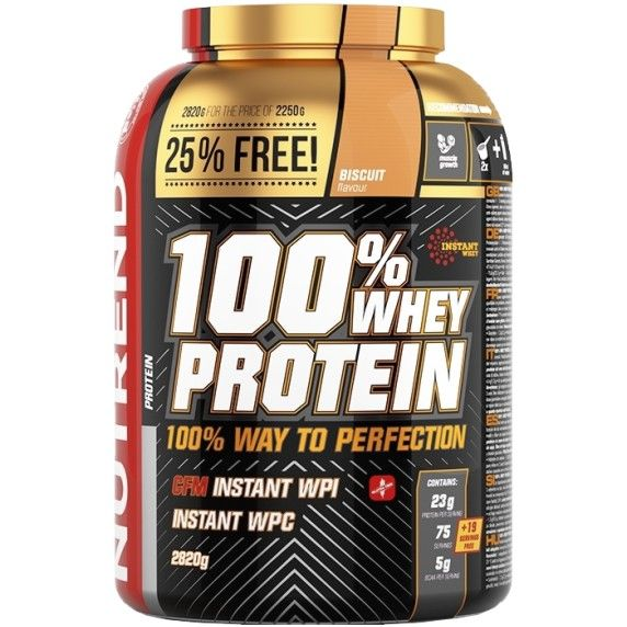 Nutrend 100% WHEY PROTEIN 2820 g - příchuť biscuit
