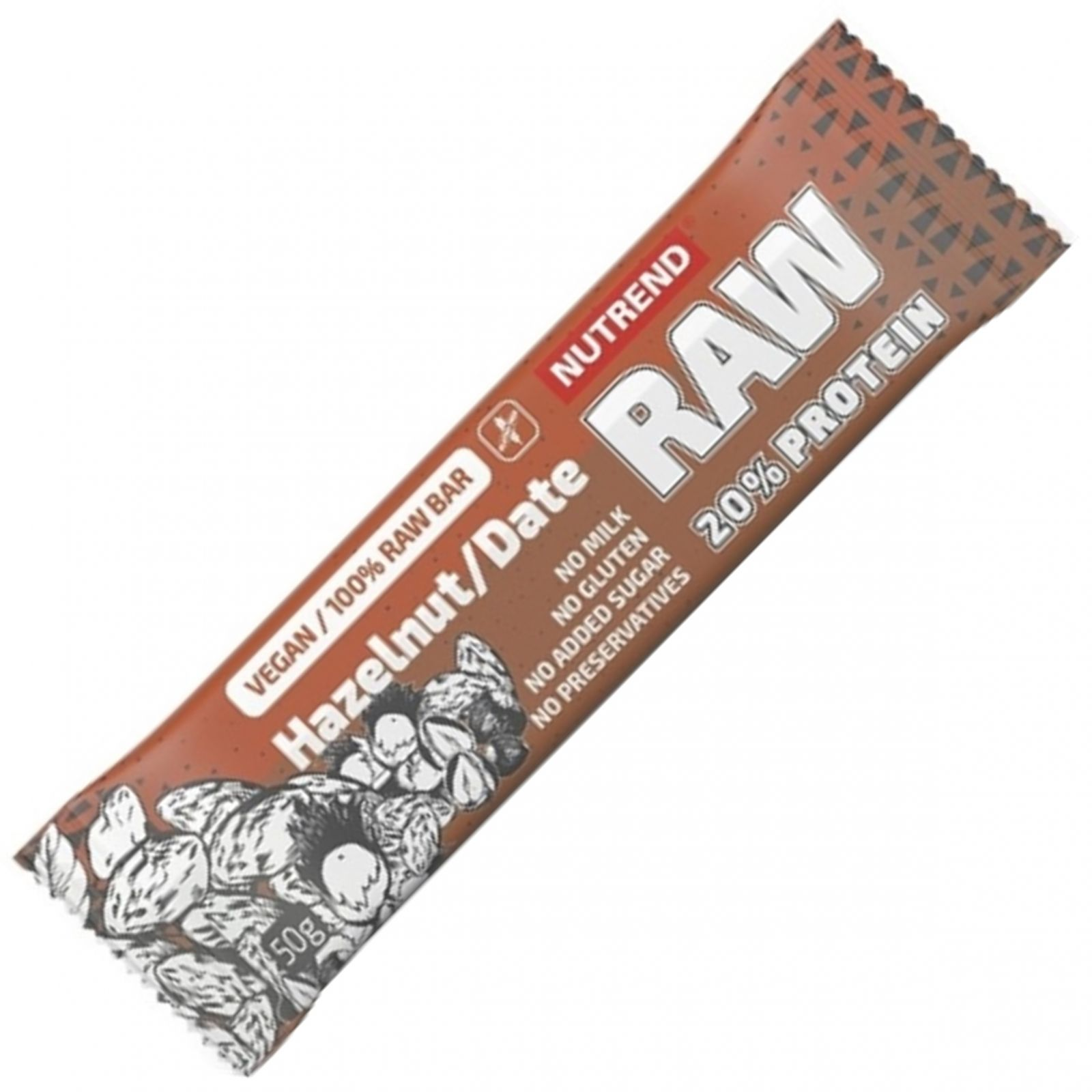 2Nutrend RAW protein bar ořech a datle