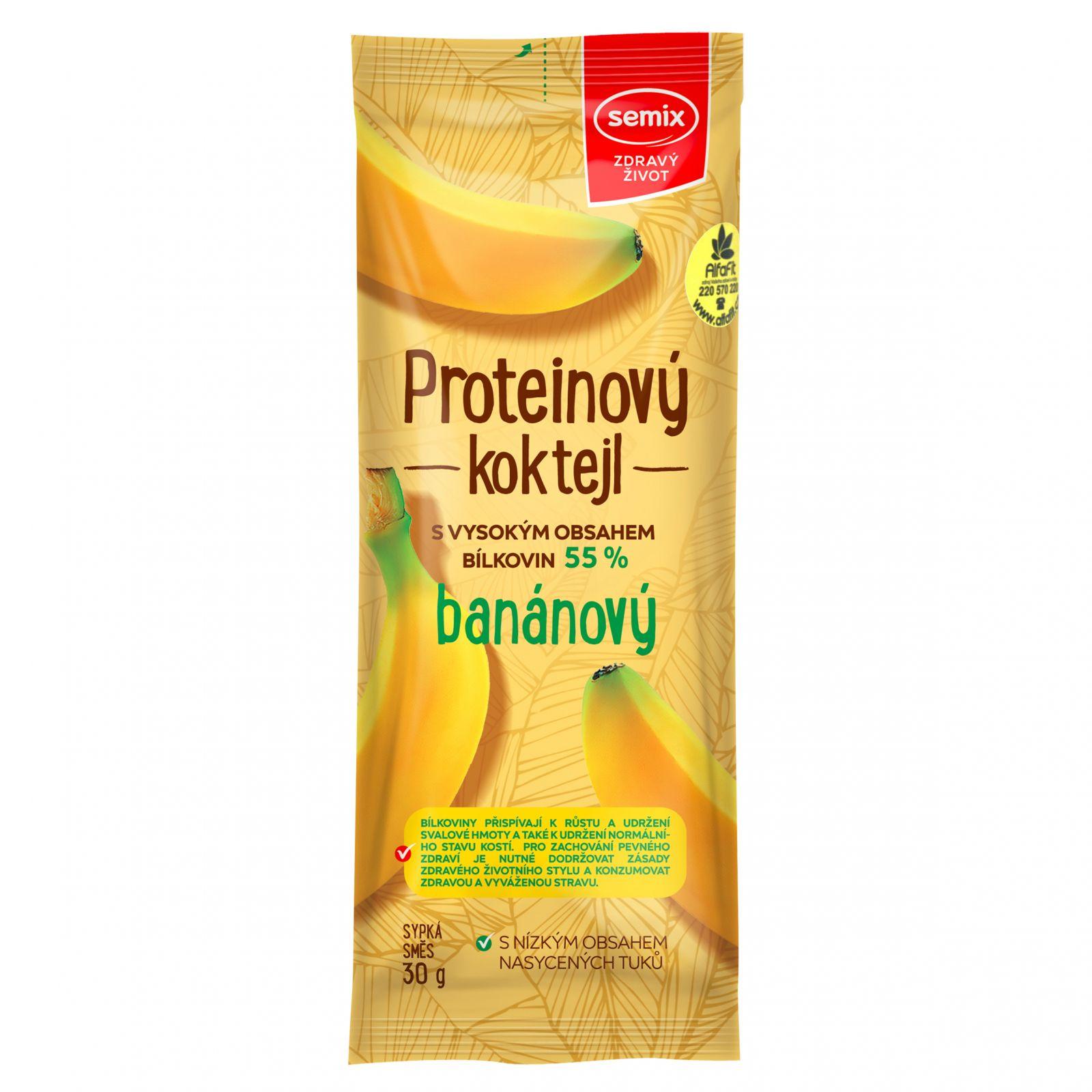 Semix Proteinový koktejl banánový 30 g