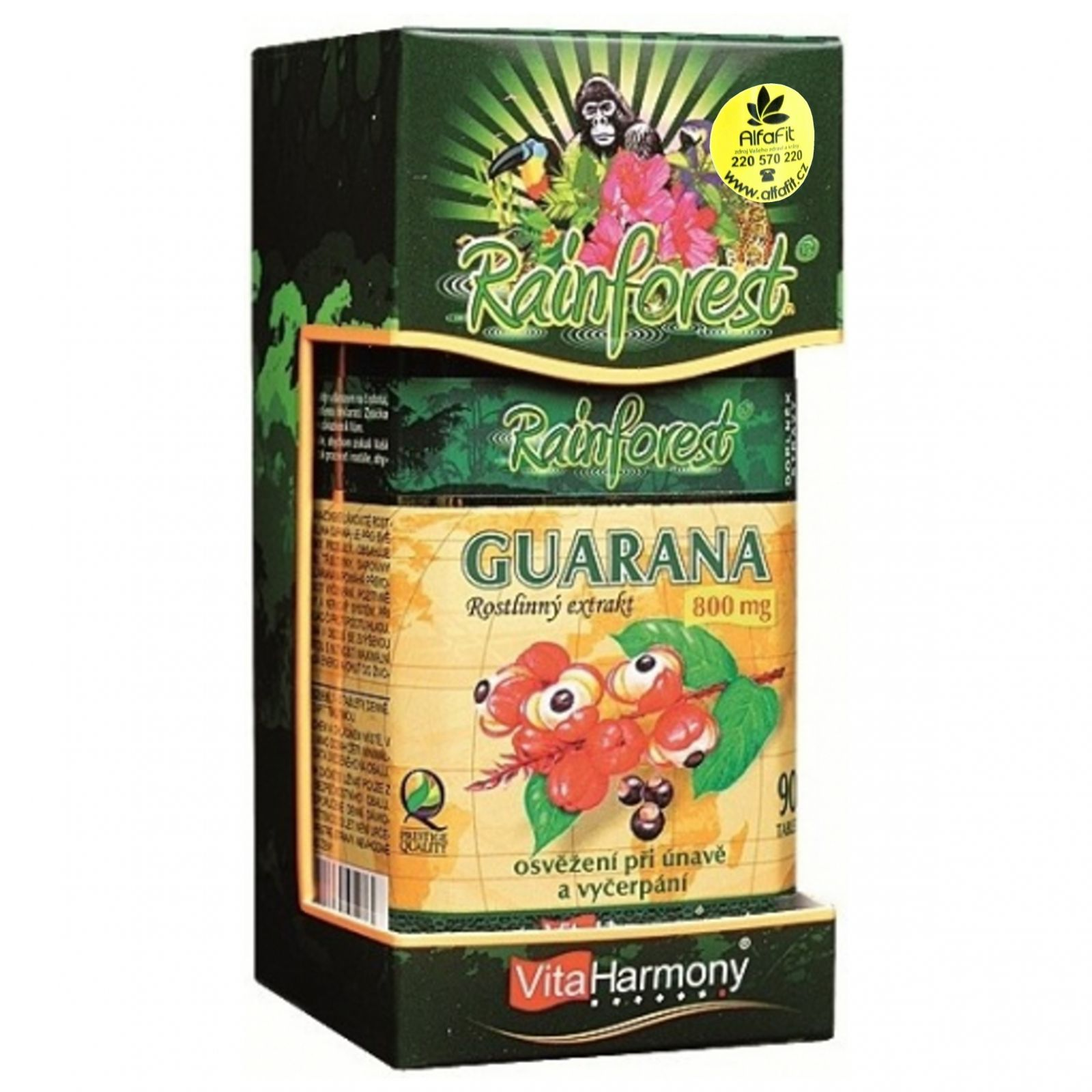 VitaHarmony Guarana 800 mg - 90 tablet