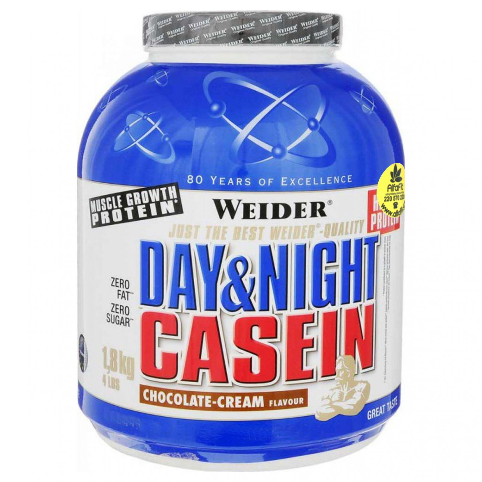 Weider Day & Night Casein (100% Casein) 1800 g