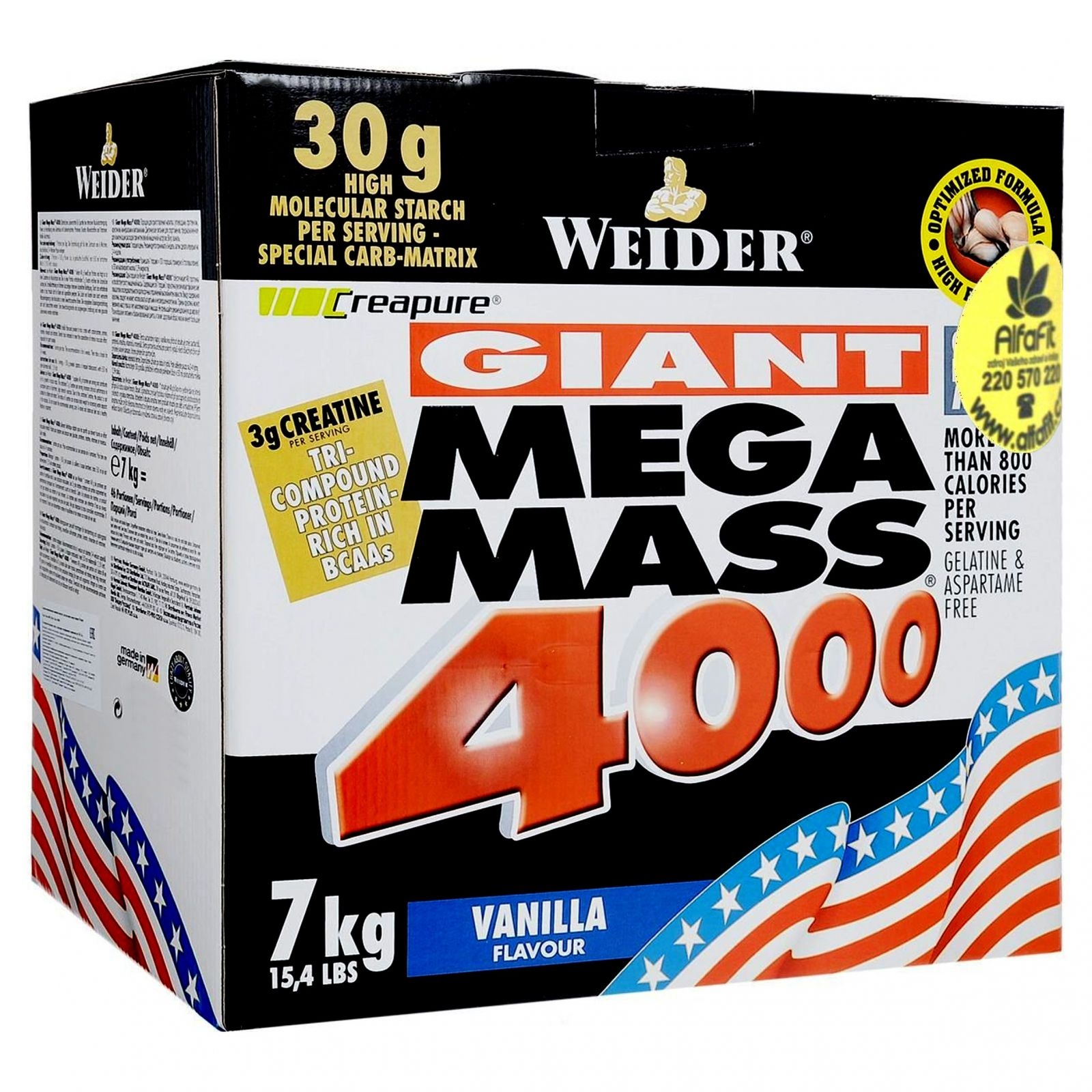 Weider Giant Mega Mass 4000 - 7 kg
