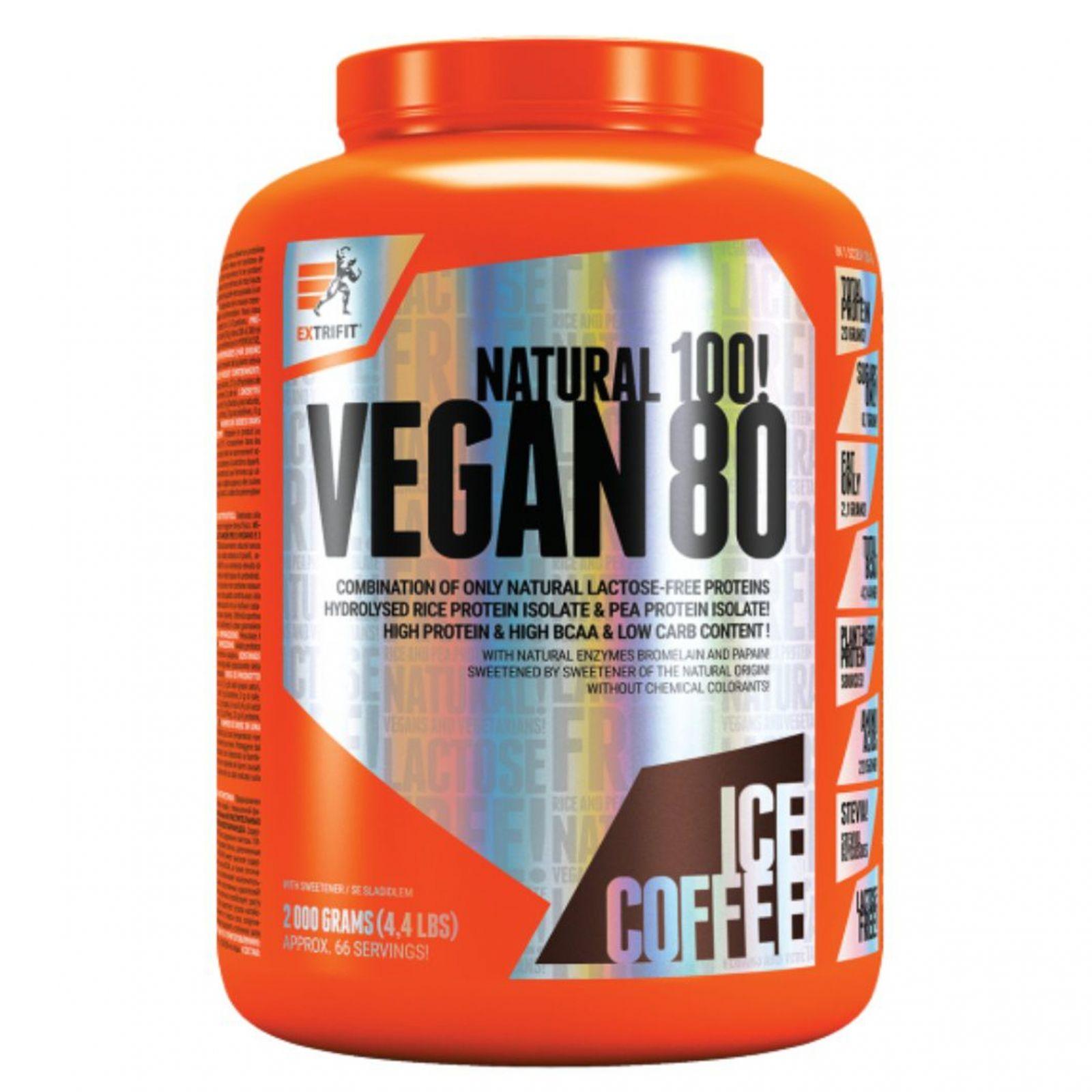 Extrifit Vegan 80 - 2000 g - příchuť ledová káva