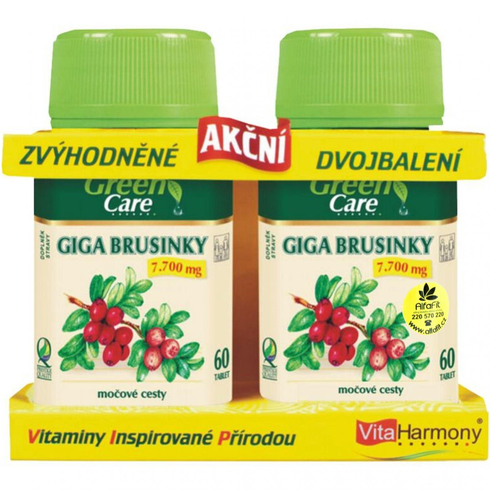 VitaHarmony Giga brusinky 7700 mg 60 + 60 tablet (zvýhodněné akční dvojbalení)