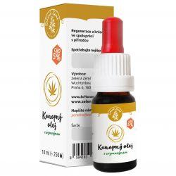 Zelená Země CBD Konopný olej 5% s romarýnem 10 ml ─ regenerační sérum