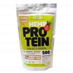 Zelená Země Konopný protein 500 g - kakao & banán