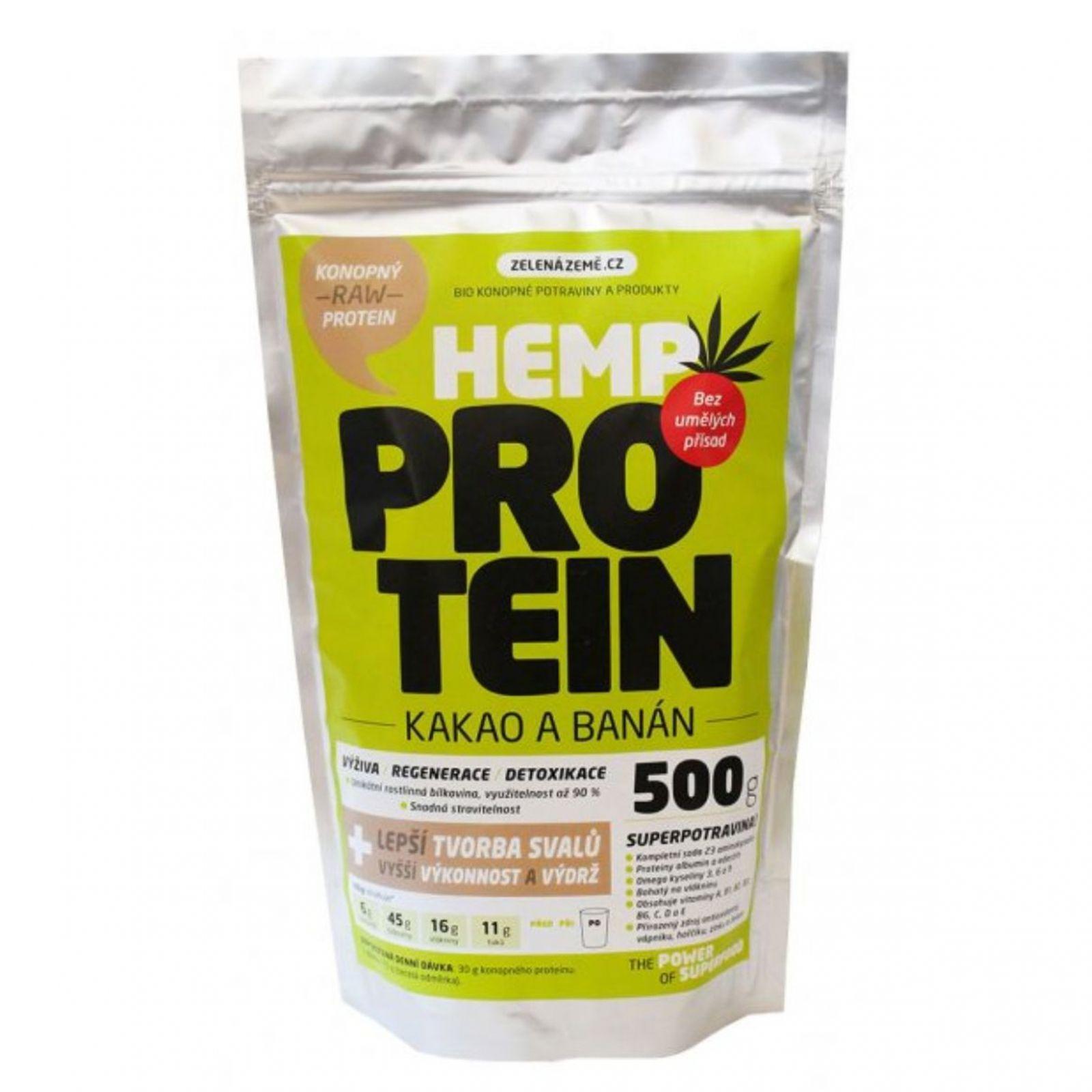 Zelená země Konopný protein 500g