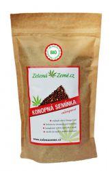 Zelená Země BIO Konopné semínko neloupané 500 g ─ SLEVA mírně poškozený obal