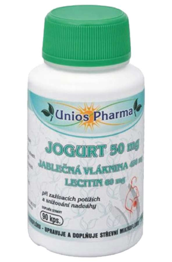 Unios Pharma JOGURT + jablečná vláknina 90 kapslí