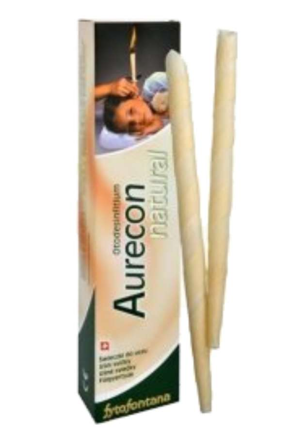 Herb-pharma Aurecon natural Ušní svíčky 2 ks