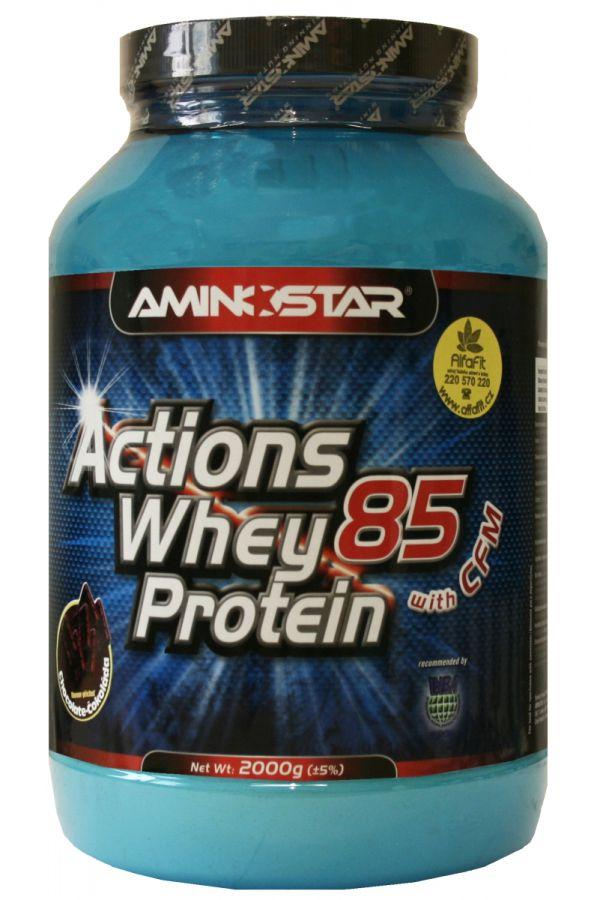 Výsledek obrázku pro Aminostar Actions Whey Protein 85 2000 g