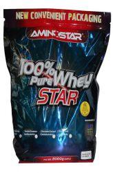 Aminostar 100% Pure Whey Star 2000 g příchuť jahoda