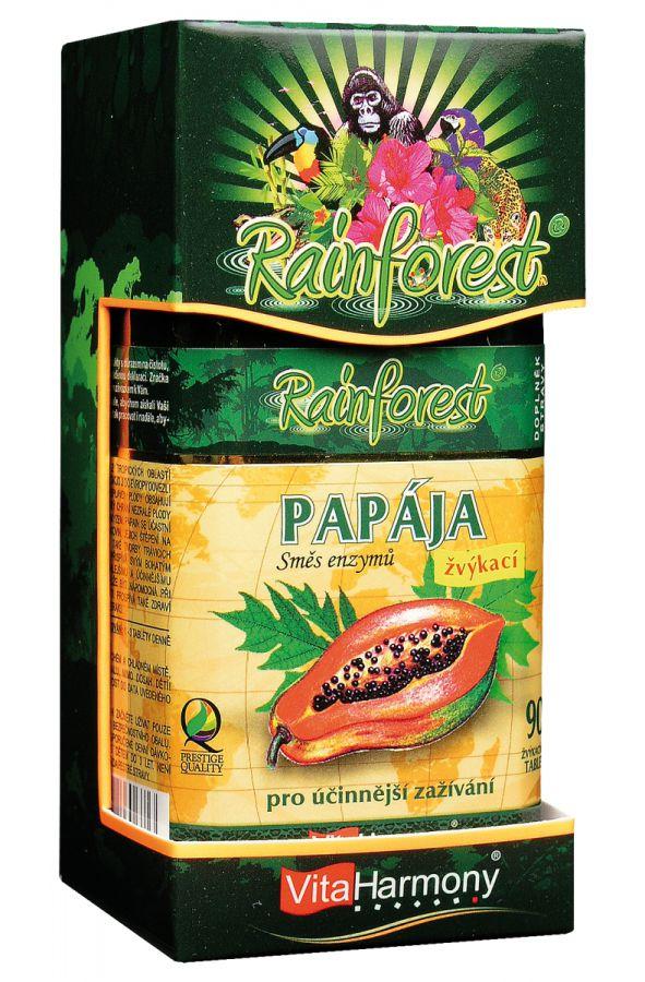 Papája, směs enzymů 45 mg