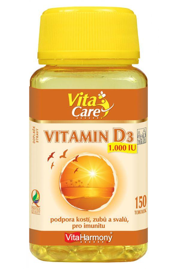 VitaHarmony Vitamin D3 - 1000 m.j. 25 µg - 150 tobolek