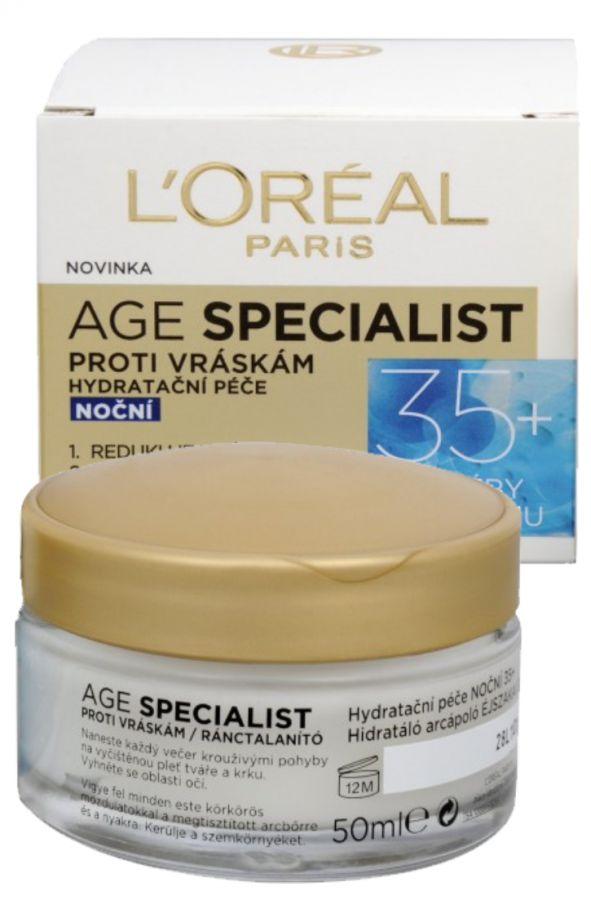 L'Oréal Paris Age Specialist noční krém 35+ proti vráskám 50 ml