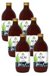 SET 6x AlfaFit BIO Acai 100% puree 500 ml