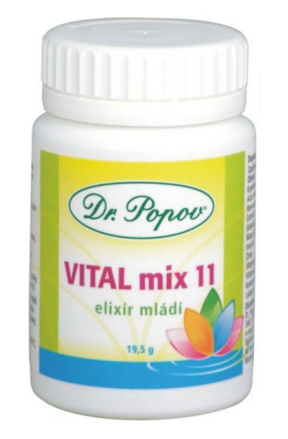 Dr. popov vital mix 11 elixir mládí 30 tobolek (19,5 g)